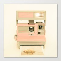 Pink Pola Love Vintage C… Canvas Print