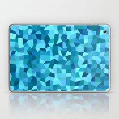 Blue rectangle mosaic Laptop & iPad Skin