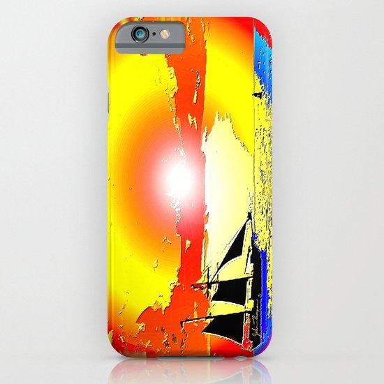 Sunset ship iPhone & iPod Case