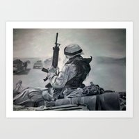 A Few Proud Marines  Art Print