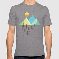 Asphalt Sun Mens Fitted Tee Tri-Grey SMALL