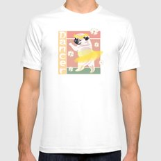 Dancer Mens Fitted Tee SMALL White