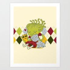 Medusa had a pet rock. Art Print