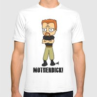 motherdick Mens Fitted Tee White SMALL