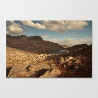 Wind River Mountains and Alpine Lake  Canvas Print