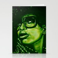 badu?!-green Stationery Cards
