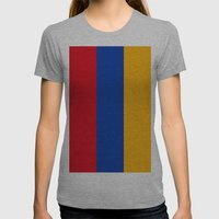 Flag Of Armenia Womens Fitted Tee Athletic Grey SMALL