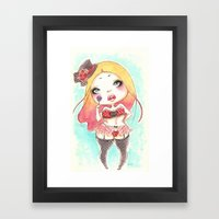 Lollipop Chubby Framed Art Print