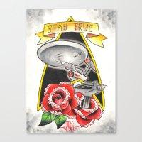Stay True Star Trek Canvas Print