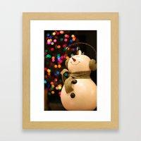Christmas Makes Me Smile Framed Art Print