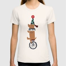 circus dog Womens Fitted Tee Natural SMALL