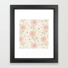 Folky Flowers Framed Art Print