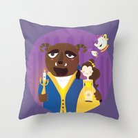 Beauty and beast Throw Pillow