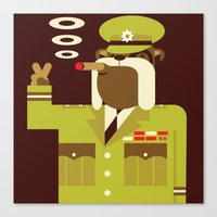 Major Winston Bulldog Canvas Print