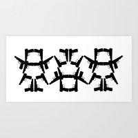 Pistol Robots Art Print