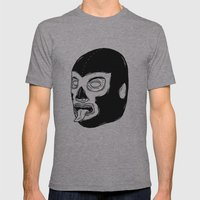 Black Luchador Mens Fitted Tee Athletic Grey SMALL