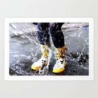 Gumboots on a Rainy Day Art Print