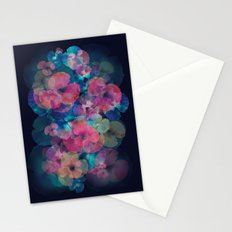 Midnight bloom Stationery Cards