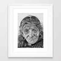 Spiderweb Traditional Portrait Print Framed Art Print