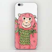 Peachtree The Chimp in Red iPhone & iPod Skin
