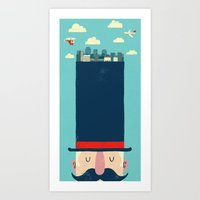 City Gent Art Print