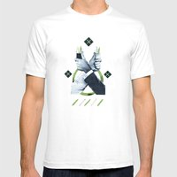 Service Toothpicks Mens Fitted Tee White SMALL