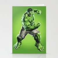 hulk Stationery Cards featuring HULK by Hands in the Sky
