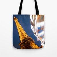 Tour Eiffel Carousel Tote Bag