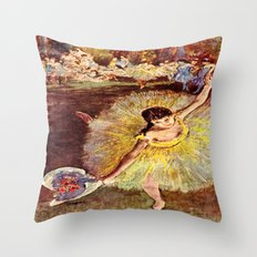 Dancer with Bouquet Throw Pillow