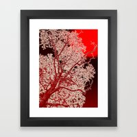 Surreal Red Harmony Framed Art Print