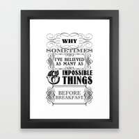 Alice In Wonderland Six … Framed Art Print