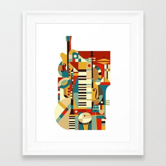 Jazz Fusion Framed Art Print