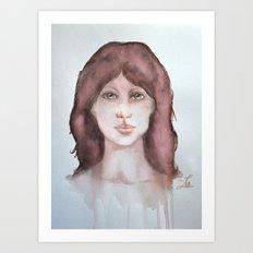 Watercolor smile Art Print