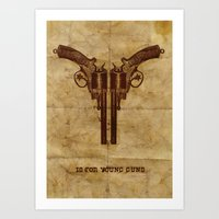 Y Is For Young Guns Art Print