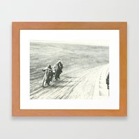 Board Track Racers  Framed Art Print