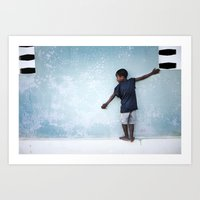 The Orphan And The Blue … Art Print