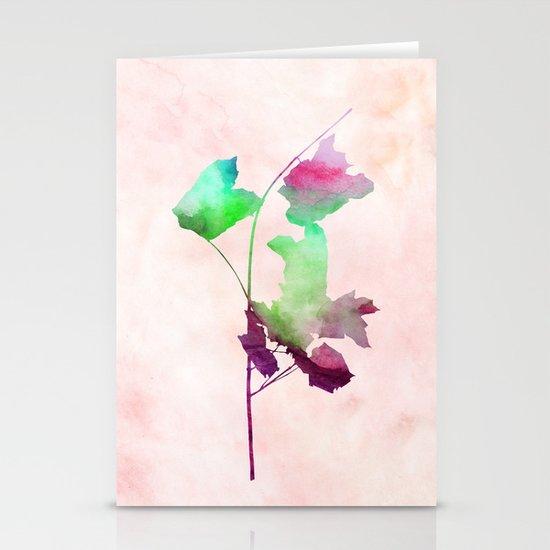 Maple2_Watercolor by Jacqueline Madonado & Garima Dhawan Stationery Card