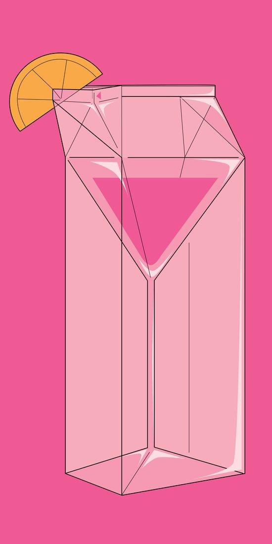 Martini in a box Art Print