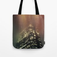 Misty Tower Tote Bag