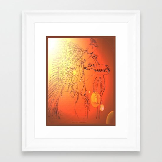 BAD MEDICINE 10 Framed Art Print