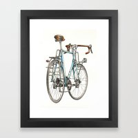 brooklyn blue beauty Framed Art Print