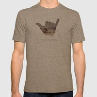 good vibrations Mens Fitted Tee Tri-Coffee SMALL