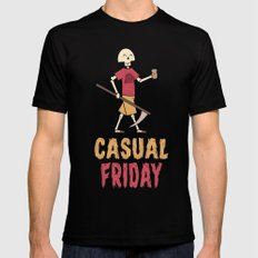 Casual Friday SMALL Black Mens Fitted Tee