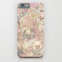iPhone & iPod Case featuring Self  Portrait with Kitties by kozyndan