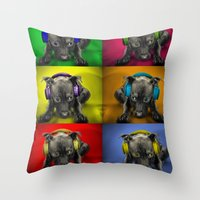 DoG DAzE Throw Pillow