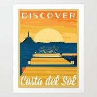 Discover COSTA Del SOL |… Art Print