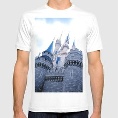 Disney Castle In Color Mens Fitted Tee White SMALL
