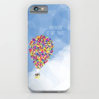 iPhone Cases featuring ADVENTURE IS OUT THERE! by Rebecca Allen