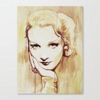 Marlene Dietrich  Canvas Print