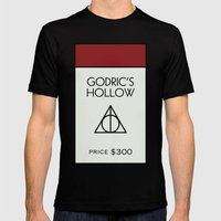 Godric's Hollow Monopoly… Mens Fitted Tee Black SMALL